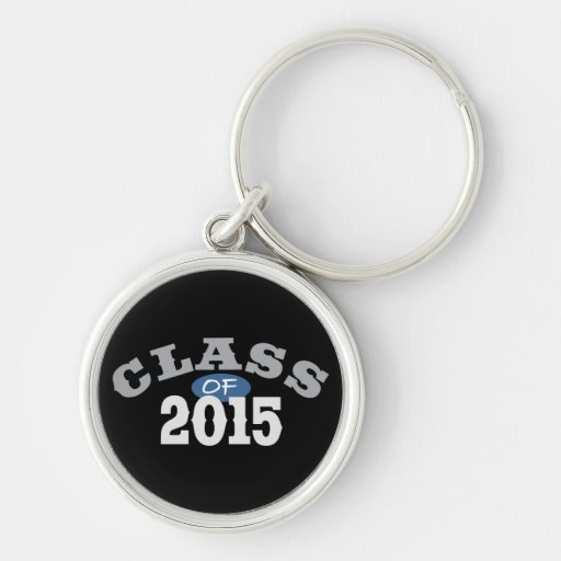 Class Of 2015 Blue Silver-Colored Round Keychain