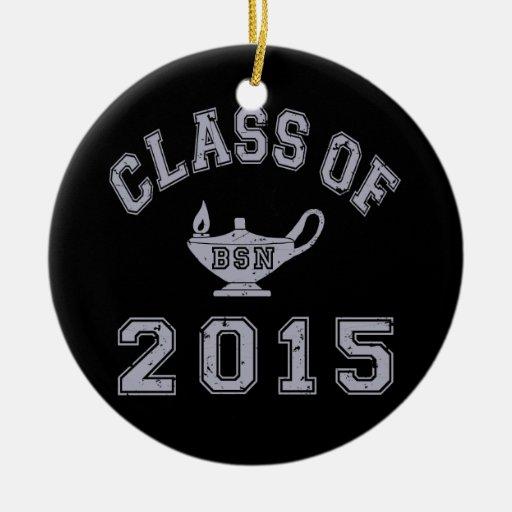Class Of 2015 BSN - Grey 2 Christmas Tree Ornament