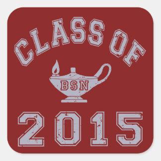 Class Of 2015 BSN Square Sticker