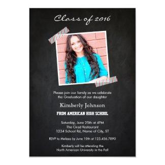 Class of 2015 Chalkboard Graduation Invitation