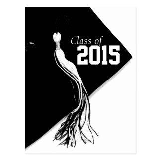 Class of 2015 Classic BlackCap Graduation Postcard