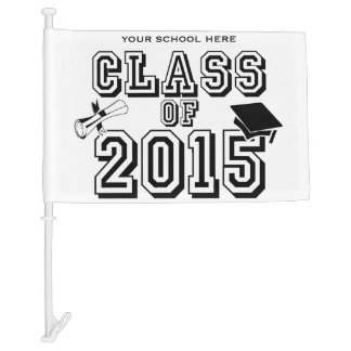 Class of 2015 Custom School Color Car Flag