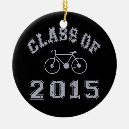 Class Of 2015 Cycling Ceramic Ornament