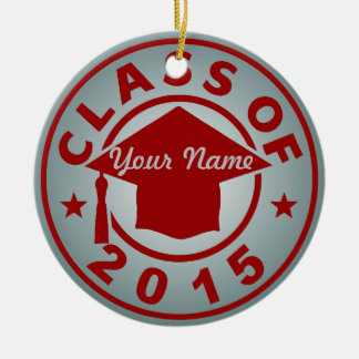 Class Of 2015 Double-Sided Ceramic Round Christmas Ornament