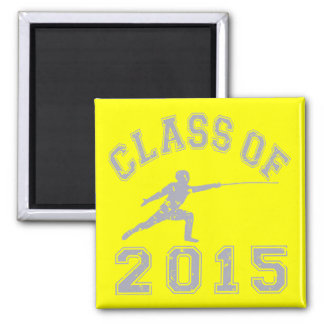 Class of 2015 Fencing 2 Inch Square Magnet