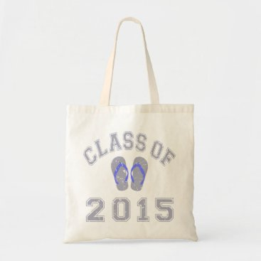 Beach Themed Class Of 2015 Flip Flop - Grey 2 Tote Bag