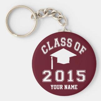 Class Of 2015 Graduation Basic Round Button Keychain
