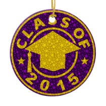 Class Of 2015 Graduation Ceramic Ornament
