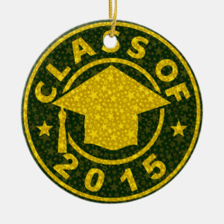 Class Of 2015 Graduation Double-Sided Ceramic Round Christmas Ornament