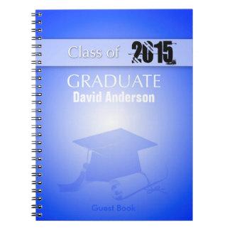 Class of 2015 - Graduation Guest Book in Blue Note Book