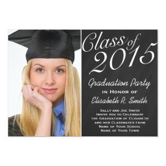 Class of 2015 Graduation Party Chalkboard Portrait 5x7 Paper Invitation Card