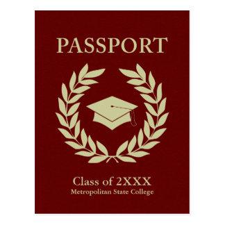 class of 2015 graduation passport postcard