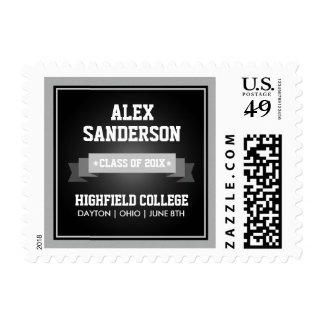 Class of 2015 Graduation Postage Stamp | Black