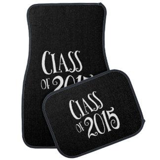 Class of 2015 Graduation Present Vintage Text Car Mat