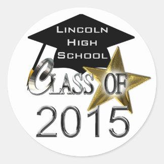 Class Of 2015 Graduation Seals Classic Round Sticker