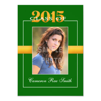 Class of 2015 Green Graduation Party Invitation