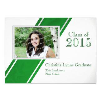 Class of  2015 Green Photo Graduation Announcements