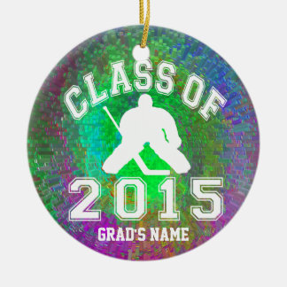 Class Of 2015 Hockey Ceramic Ornament