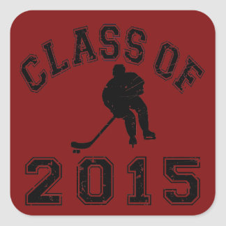 Class of 2015 Hockey Square Sticker