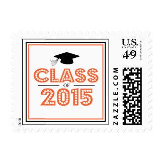 Class Of 2015 In Lights (Orange / Black) Stamps