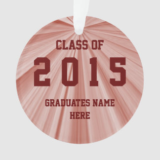 Class of 2015 Maroon Round Ornament