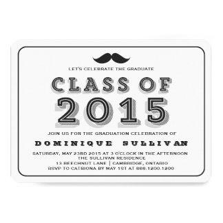 Class of 2015 Mustache Graduation Invitation