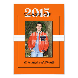 Class of 2015 Orange Graduation Party Invitation