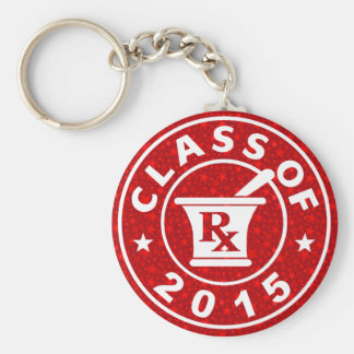 Class Of 2015 Pharmacy Basic Round Button Keychain