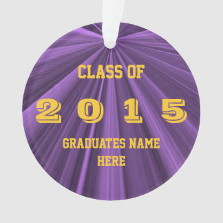 Class of 2015 Purple and Gold Round Ornament