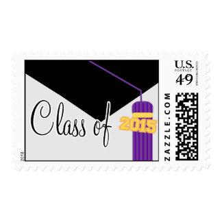 Class Of 2015 (Purple Graduation Cap And Tassel) Postage Stamp