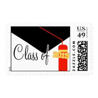 Class Of 2015 (Red Graduation Cap And Tassel) Stamp