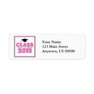 Class Of 2015 Return Address Labels (Hot Pink) Return Address Label
