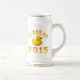 Class Of 2015 Rubber Duckie - Orange 2 Beer Stein