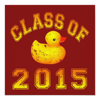 Class Of 2015 Rubber Duckie - Orange 2 Invitation