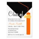 Class Of 2015 Tassel Graduation Invite (Orange)