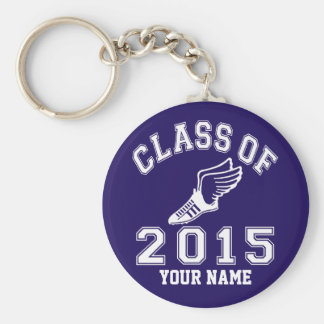 Class of 2015 Track Basic Round Button Keychain