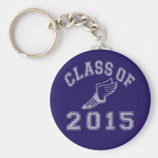 Class Of 2015 Track & Field - Grey 2 Basic Round Button Keychain