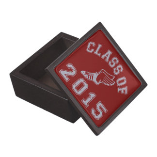 Class Of 2015 Track & Field - Grey 2 Premium Trinket Boxes
