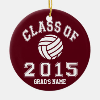 Class Of 2015 Volleyball Christmas Ornaments
