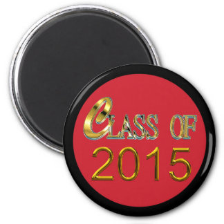 Class Of 2015 With Red, & Any Color Trim Magnet
