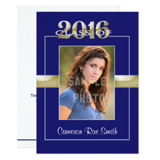 Class of 2016 Blue & Gold Graduation Party Card