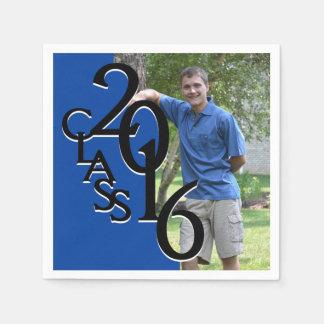 Class of 2016 Blue Grad Photo Napkin