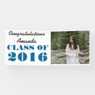 Class Of 2016 Bold Typography Graduate Photo Banner