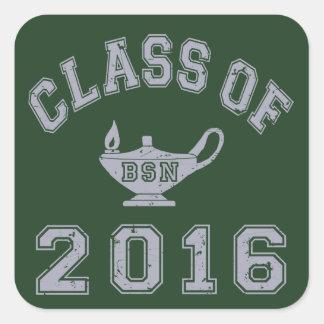 Class of 2016 BSN Square Sticker