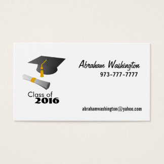 Class of 2016 Business Cards - Year Changeable