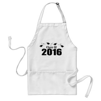 Class Of 2016 Caps And Diplomas (Black) Adult Apron