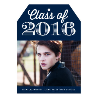 Class of 2016 Classic Typography   Navy Graduation Card