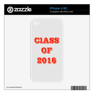 Class of 2016 decal for the iPhone 4