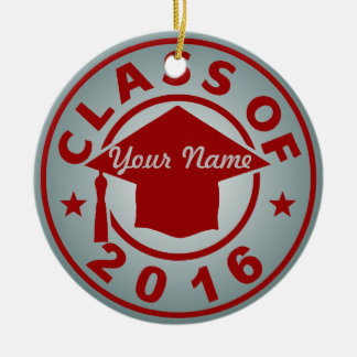 Class Of 2016 Double-Sided Ceramic Round Christmas Ornament