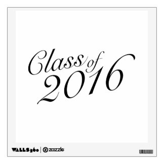 Class of 2016 Elegant Vintage Style Graduation Wall Decal